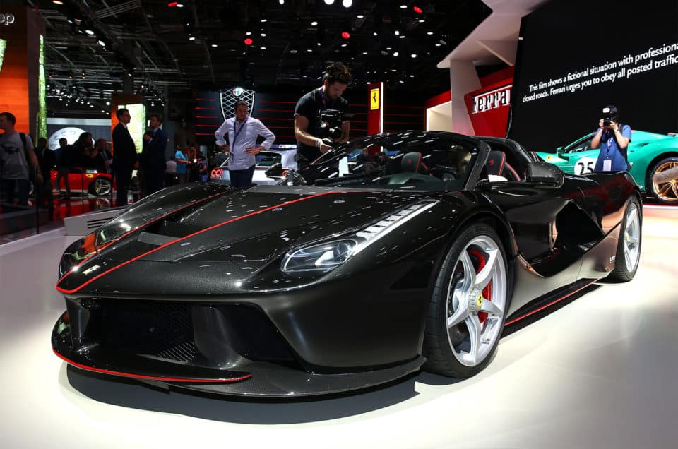 Charity and Supercars LaFerrari Aperta sold for €8.3-million at a charity auction