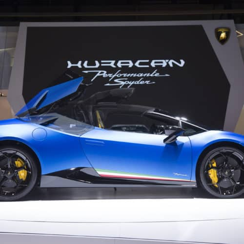 Rent a Lamborghini Huracan Performante Spyder