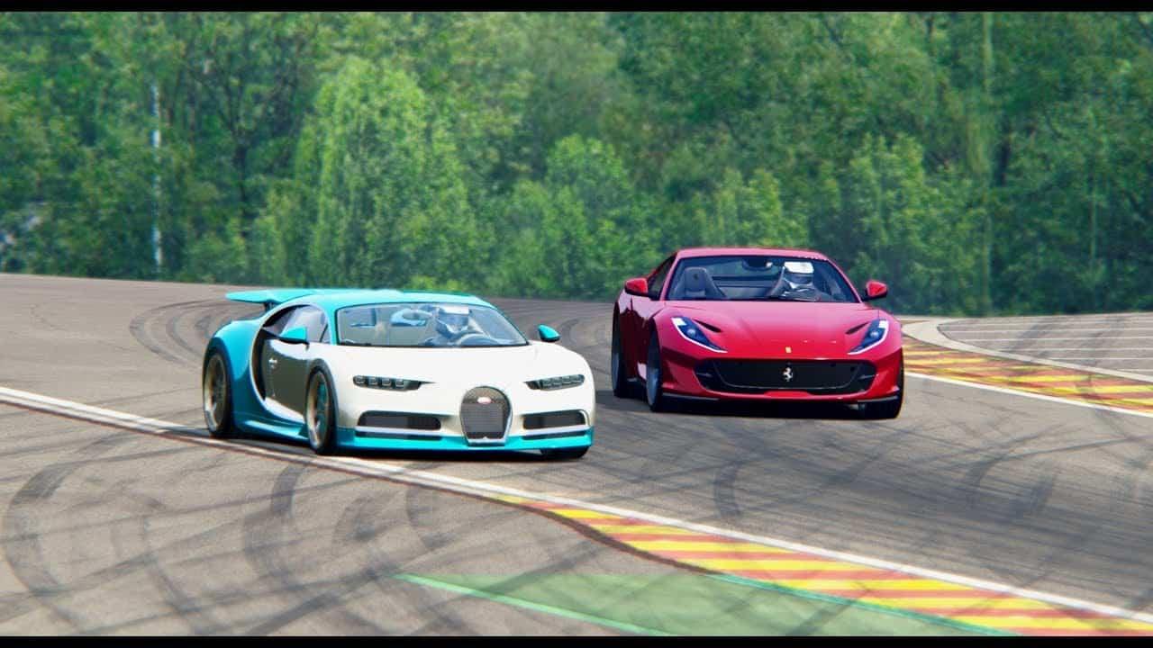 ferrari 812 superfast vs bugatti chiron italy luxury car hire
