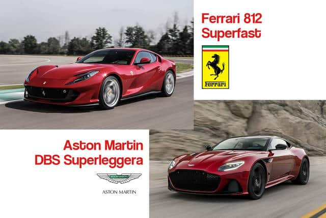 Ferrari 812 Superfast Vs Aston Martin Dbs Superleggera Italy Luxury Car Hire