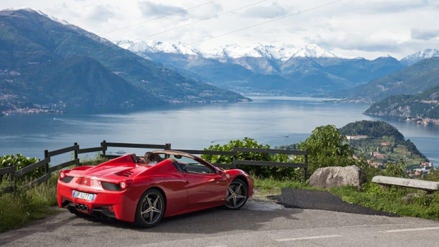 luxury car rental in stresa
