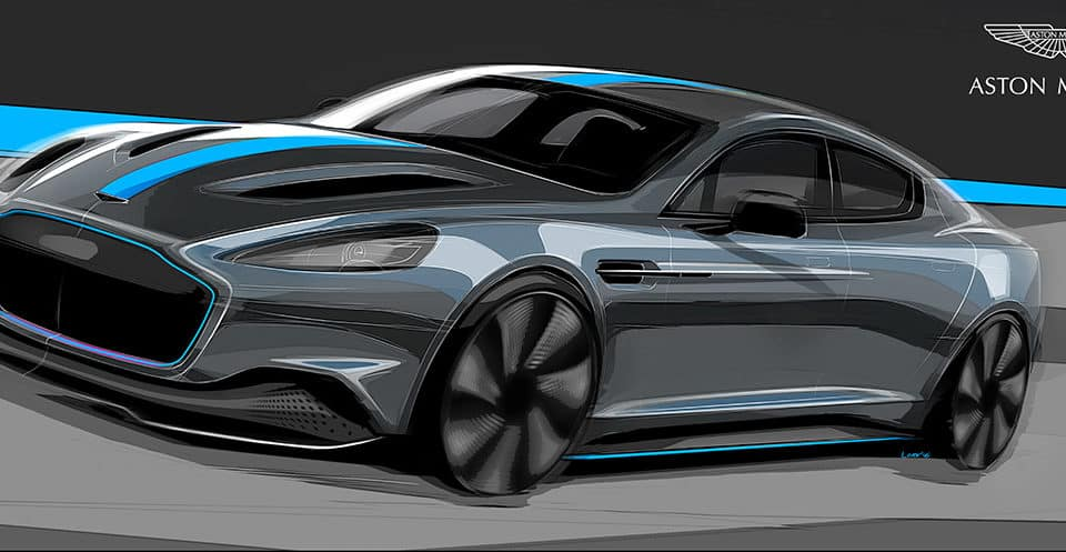 Unveiled some features of the new Aston Martin RapidE