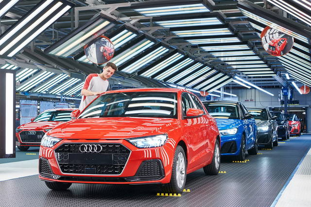 begins the production of the audi a1 sportback
